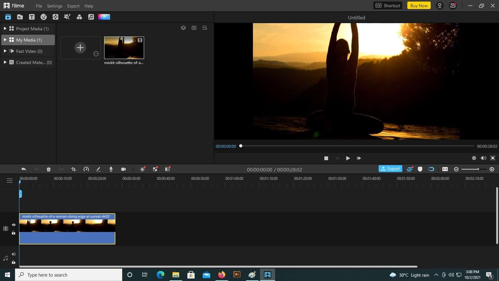 imyfone-filme-drag-video-on-timeline