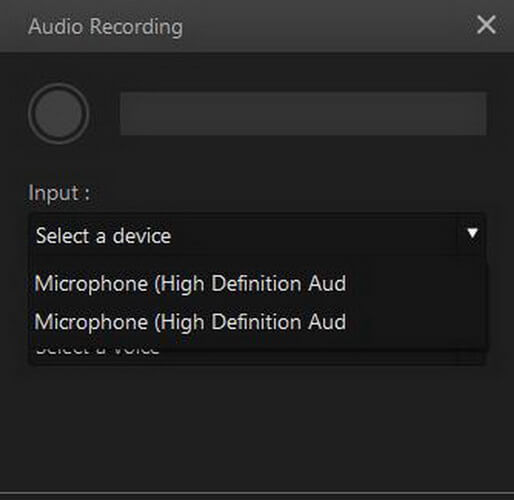 imyfone filme voice recording input