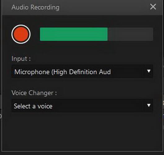 imyfone filme voice recording on