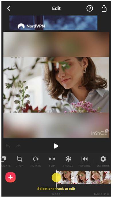 inshot video editor flip