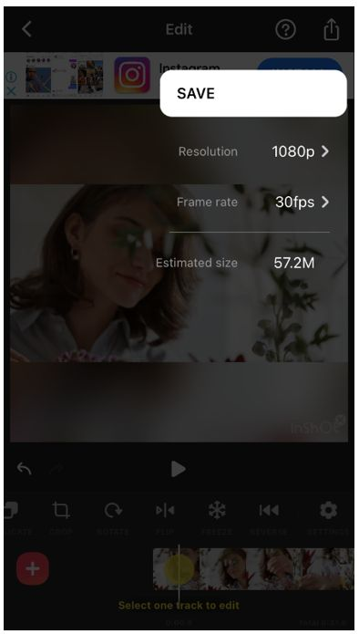 inshot video editor save video