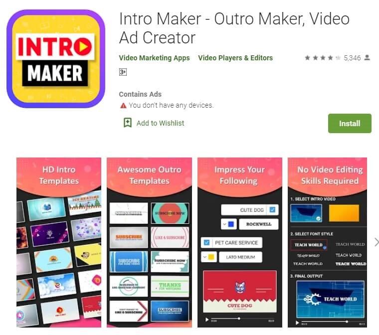 intro maker outro maker