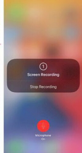 iphone screen recording microphone on