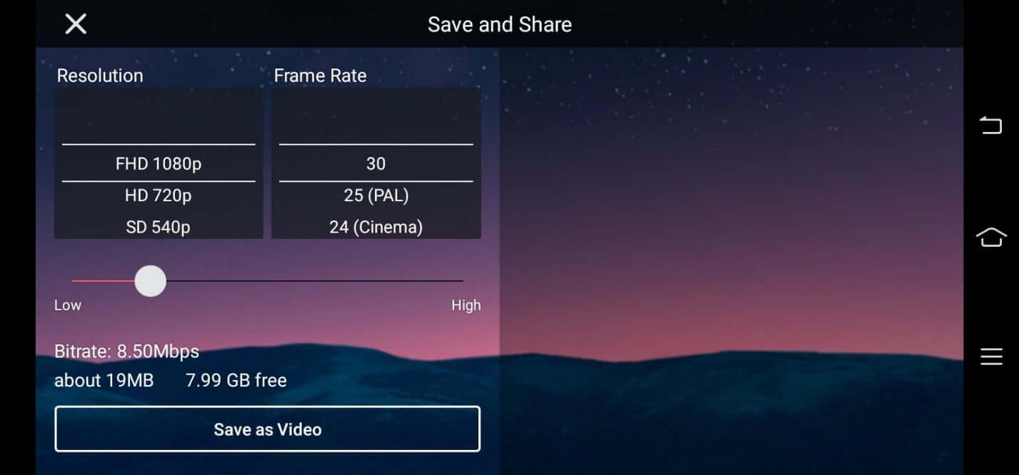 kinemaster export video