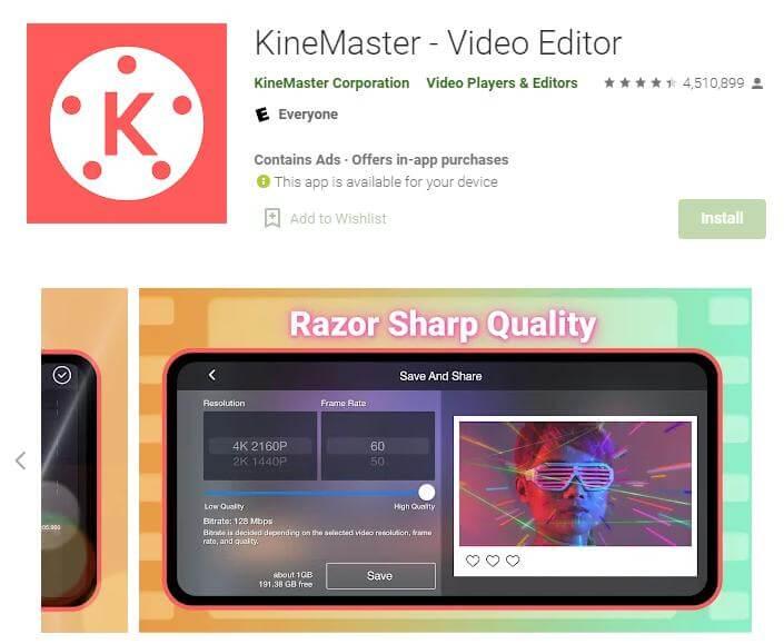 kinemaster mosaic app