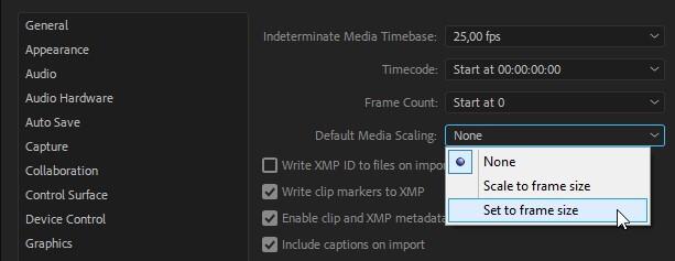 method 1 to remove black bars in premiere