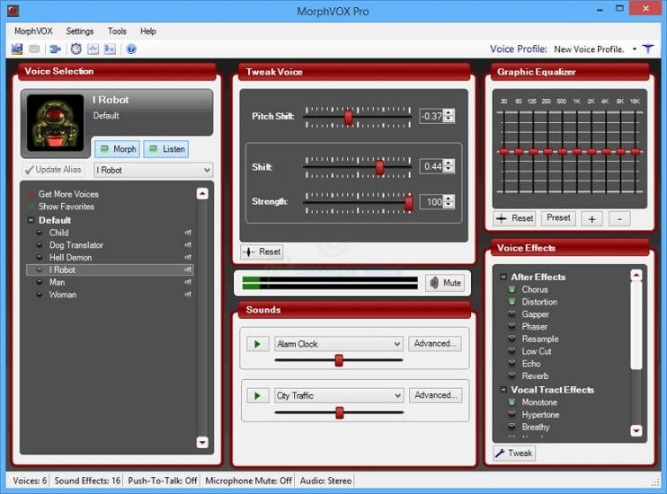morphvox tool sound configuration