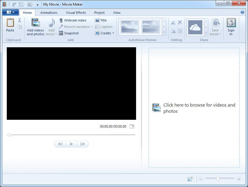 movie maker audio removal