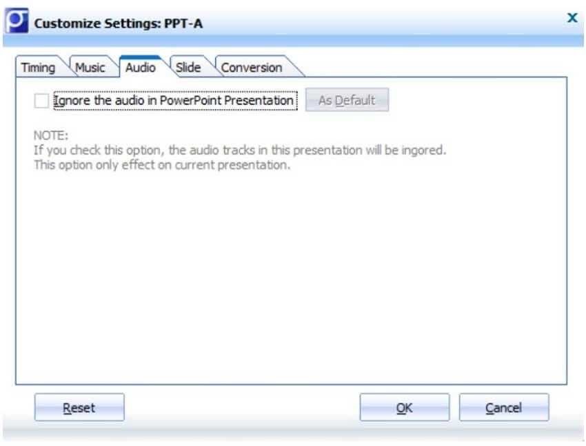 moyea ppt to video converter customize audio