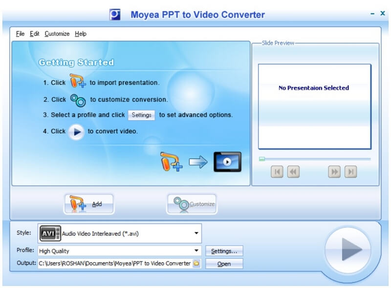 moyea ppt to video converter home