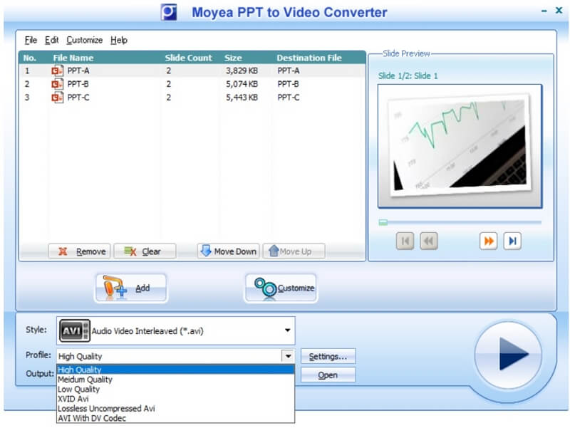 moyea ppt to video converter quality