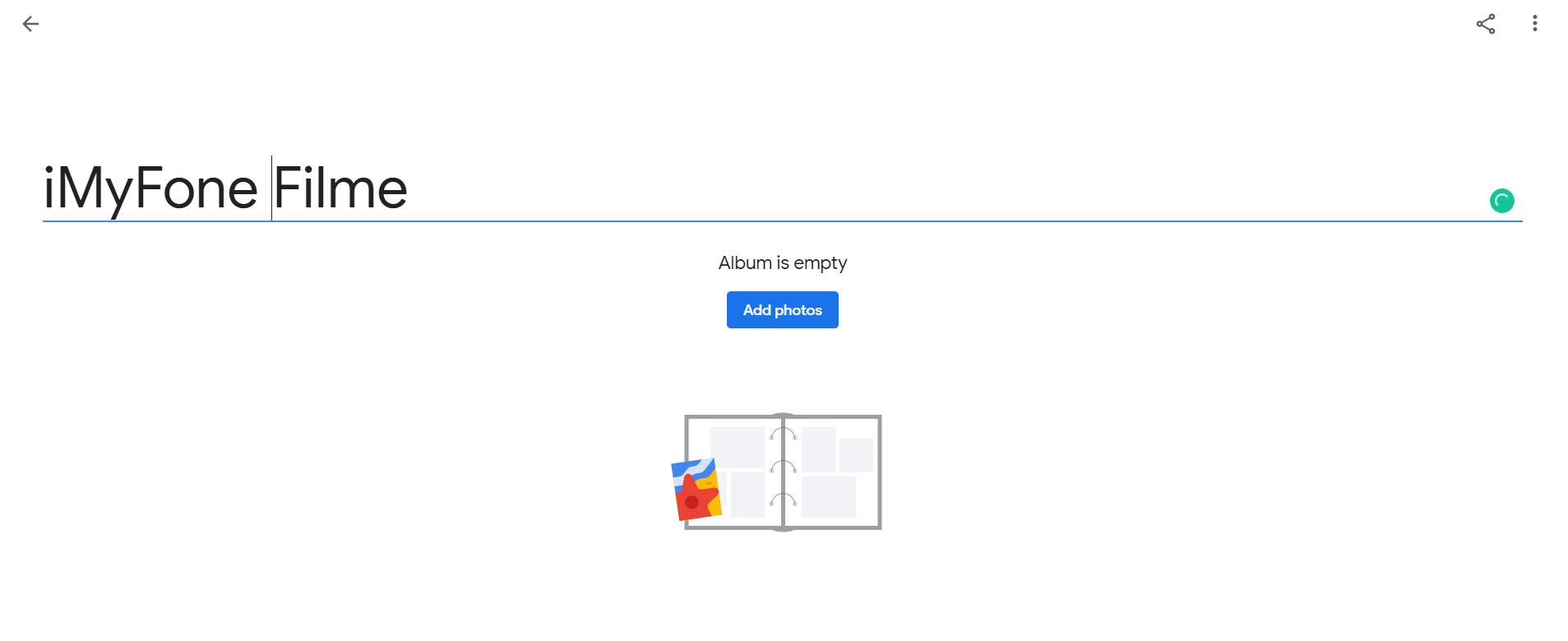google photos new album
