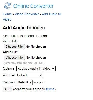 online converter select upload