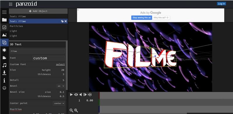 panzoid create video intro