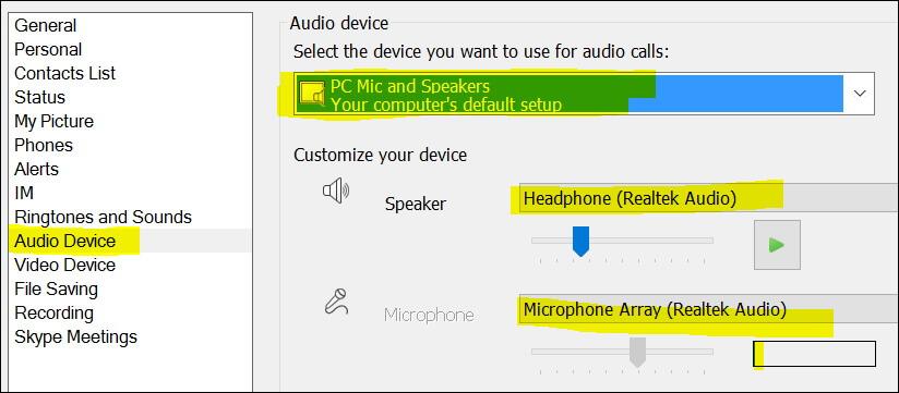 pc mic skype