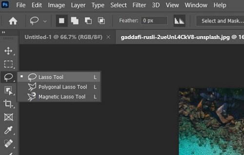 photoshop lasso tool