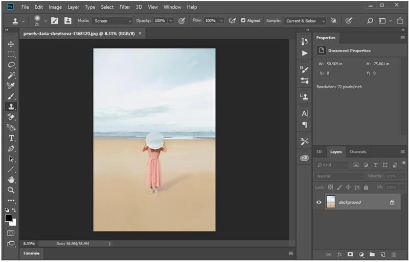 photoshop select an image