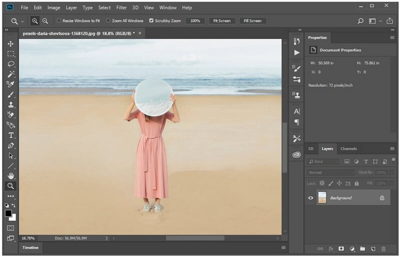 photoshop shadow removed