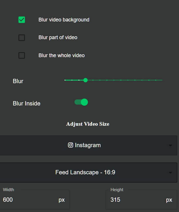 pickform-online-blur-video-background