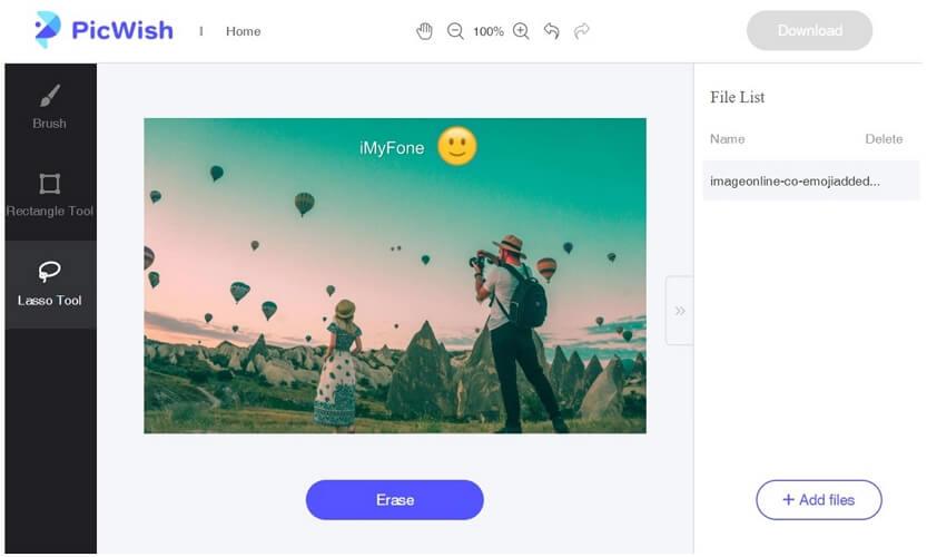picwish remove emoji online