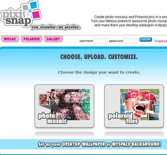 pixisnap mosaic online
