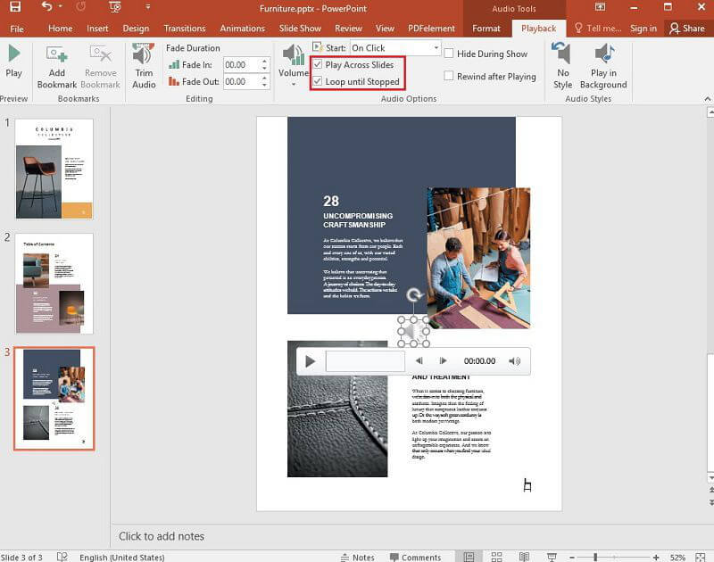 play across all slides powerpoint