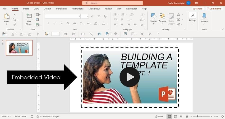How to Play Video in Powerpoint