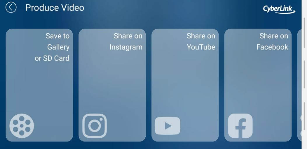 powerdirector share video
