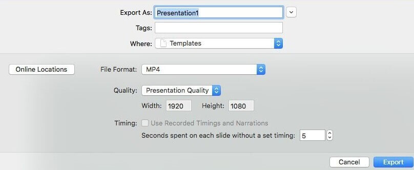 How to convert powerpoint to video on mac
