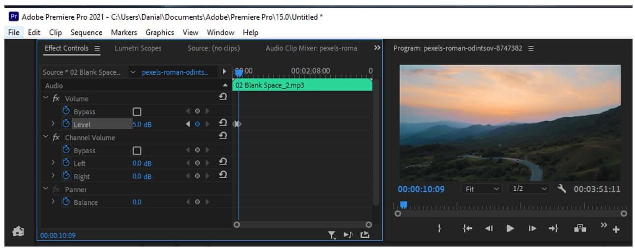 premiere pro audio keyframes