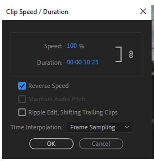 premiere pro clip speed duration