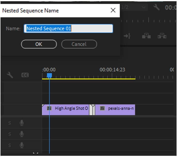 premiere pro nested sequence