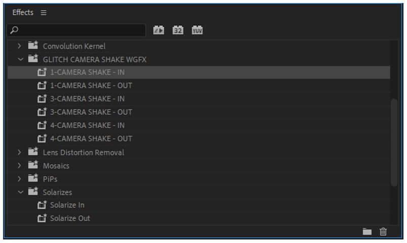 premiere pro shake presets