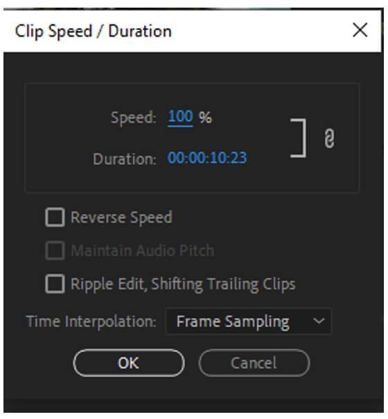 premiere pro speed duration