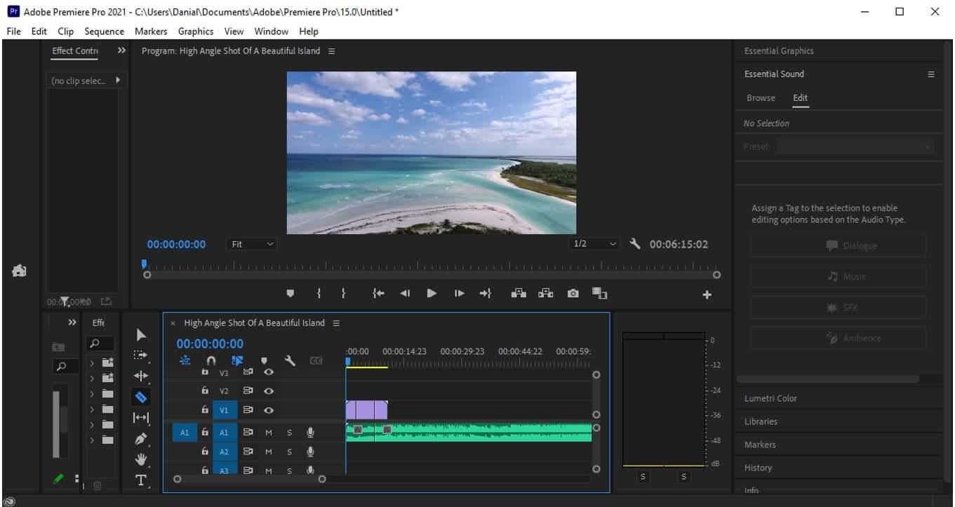 premiere pro split multiple clips