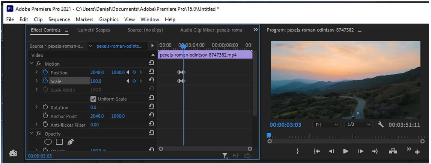 premiere pro video keyframes