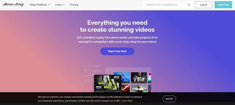 Motion Array promo video templates
