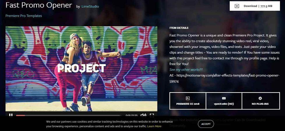 Fast Promo Opener Premiere Pro