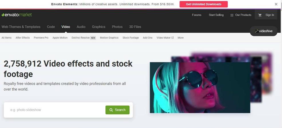 Videohive promo video templates