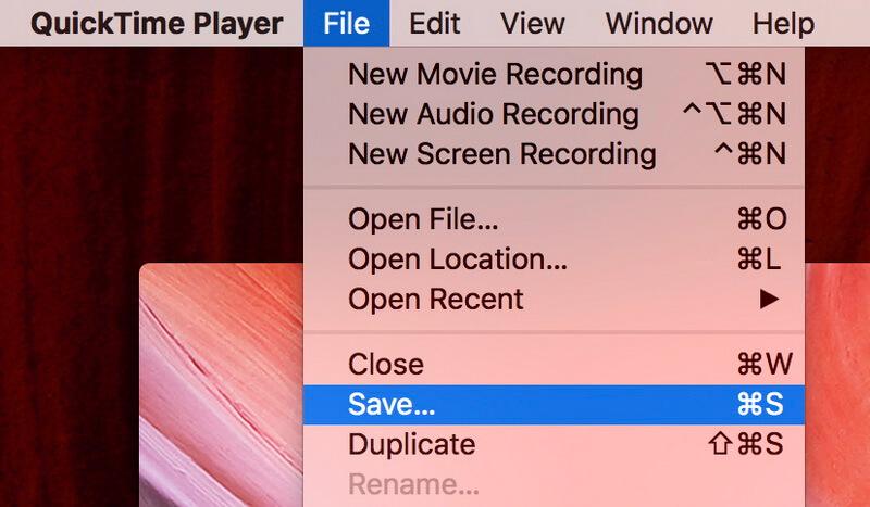 quicktime save audio