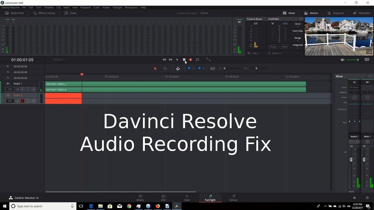 record audio in davinci resolve2