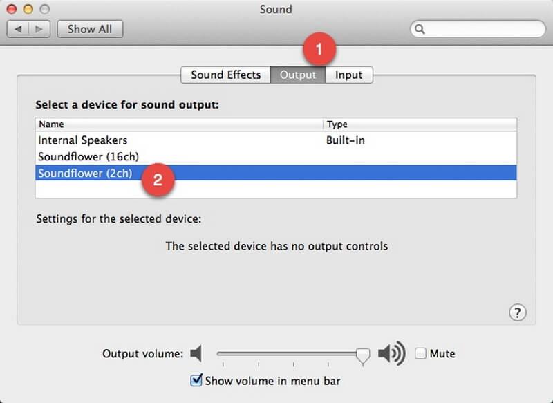 record audio soundflower setup