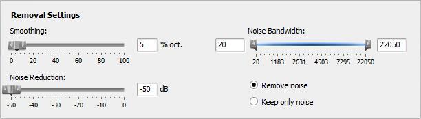 removal setting in avs video editor