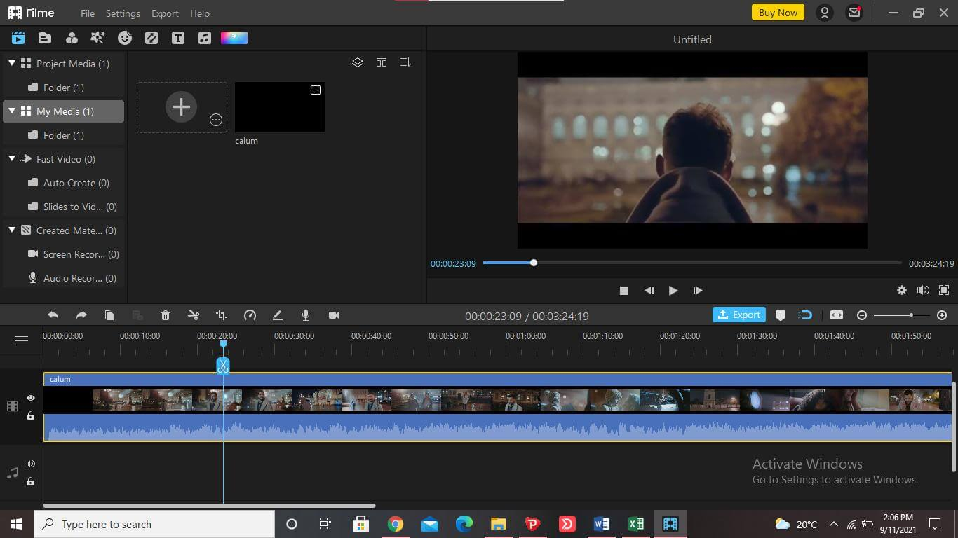 remove-audio-from-video-mac-with-filme-timeline