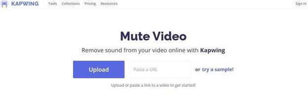 remove-audio-through-kapwing