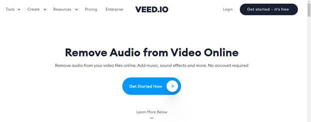 remove-audio-through-veed