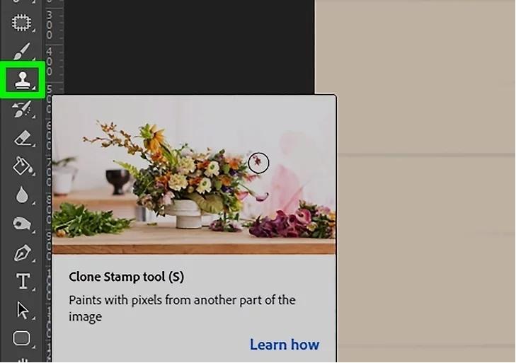 remove watermark using clone stamp tool