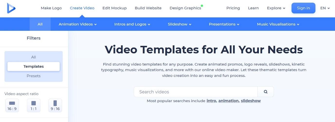 renderforest video templates