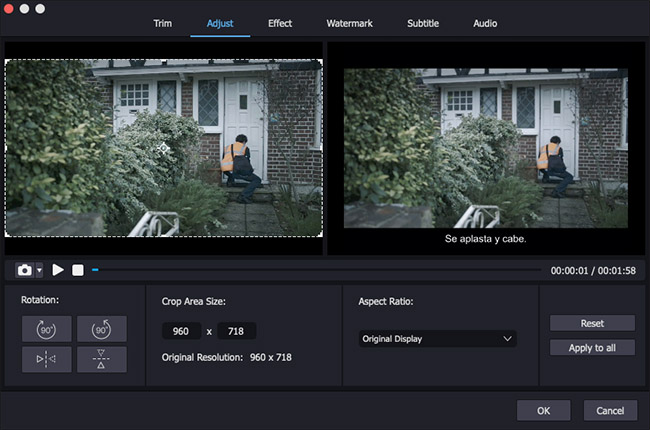 rotate video mac in joyoshare