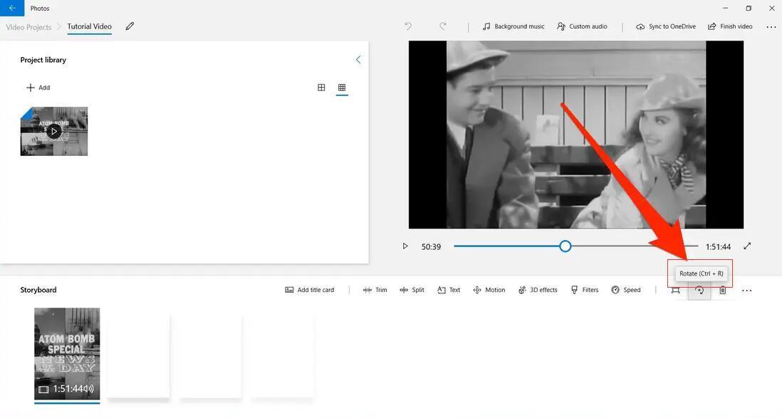 rotate video on windows 10